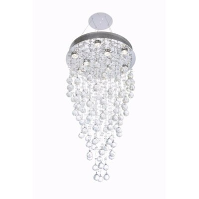 Deidamia 9-Light Semi Flush Mount Crystal Grade: Elegant Cut