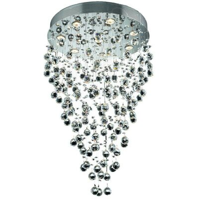 Deidamia Glam 8-Light 24 Semi Flush Mount Crystal Grade: Spectra Swarovski