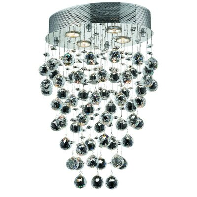 Deidamia 4-Light 16 Semi Flush Mount Crystal Grade: Royal Cut