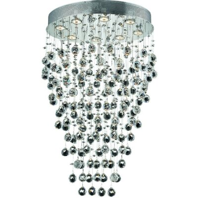 Deidamia 8-Light 24 Semi Flush Mount Crystal Grade: Royal Cut