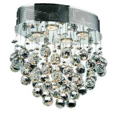 Deidamia 4-Light Semi Flush Mount Crystal Grade: Elegant Cut