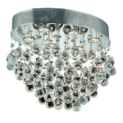 Deidamia 6-Light Semi Flush Mount Crystal Grade: Elegant Cut