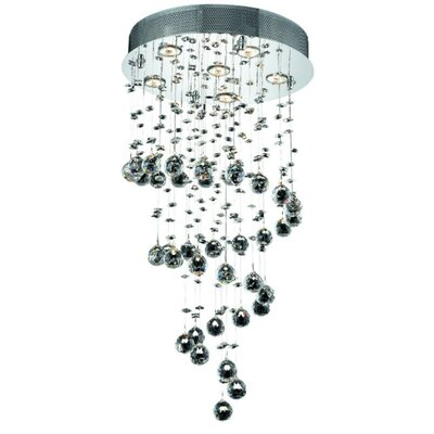 Deidamia 6-Light 18 Semi Flush Mount Crystal Grade: Elegant Cut