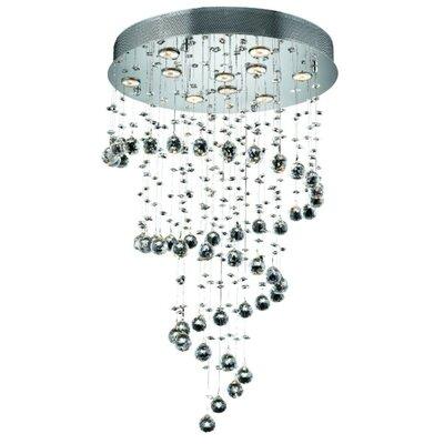 Deidamia 10-Light 24 Semi Flush Mount Crystal Grade: Strass Swarovski