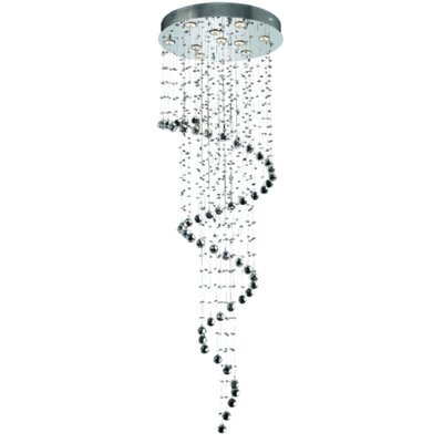 Deidamia 10-Light Large Semi Flush Mount Crystal Grade: Royal Cut
