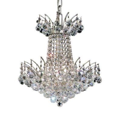 Phyllida 4-Light Chain Empire Chandelier Finish: Chrome, Crystal Trim: Royal Cut