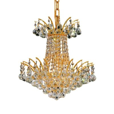 Phyllida 4-Light Chain Empire Chandelier Finish: Gold, Crystal Trim: Strass Swarovski