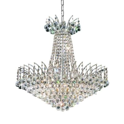 Phyllida 11-Light Crystal Empire Chandelier Finish: Chrome, Crystal Trim: Spectra Swarovski