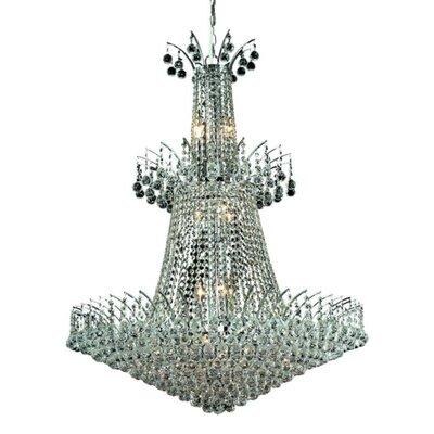 Phyllida 18-Light Crystal Chandelier Finish: Chrome, Crystal Trim: Elegant Cut