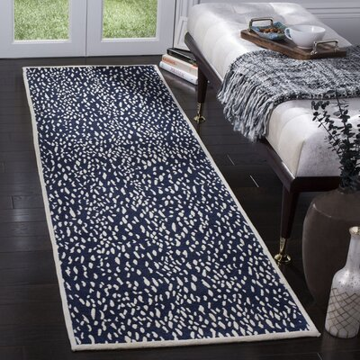 Ankit Hand Tufted Blue Area Rug Rug Size: Runner 23 x 8