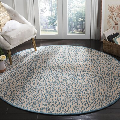 Ankit Hand Tufted Blue Area Rug Rug Size: Round�6