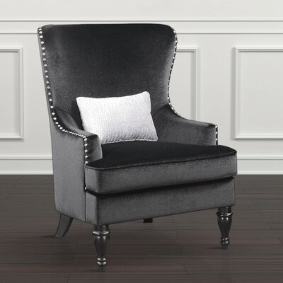 Treshon Wingback Chair Upholstery: Black