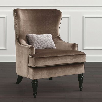Treshon Wingback Chair Upholstery: Brown