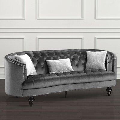 Treshon Chesterfield Sofa Upholstery: Gray