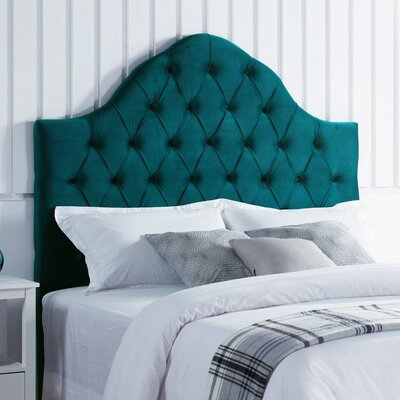 Damari Upholstered Panel Headboard Upholstery: Mallard Velvet, Size: King/California King
