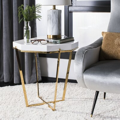 Balinas Metal End Table