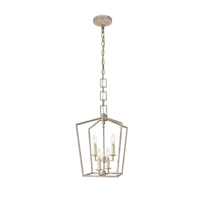 Isoline 4-Light Foyer Pendant Finish: Ivory Wash, Size: 19.5 H x 12 W x 12 D