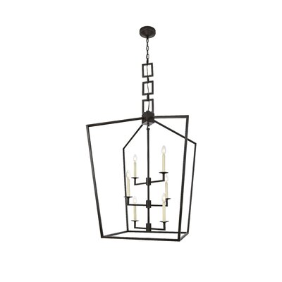 Isoline 6-Light Foyer Pendant Finish: Vintage Bronze, Size: 34.5 H x 24 W x 24 D