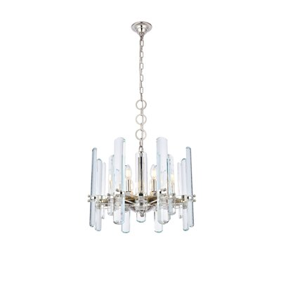 Raelene 8-Light Candle-Style Chandelier Finish: Polished Nickel