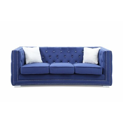 Smollin Chesterfield Sofa Upholstery: Blue