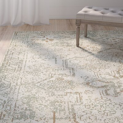 Kentville Cream/Brown Area Rug Rug Size: Rectangle 9 x 12