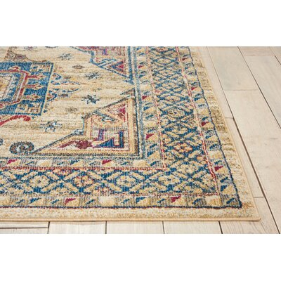 Landen Ivory/Blue Area Rug Rug Size: Rectangle 311 x 511