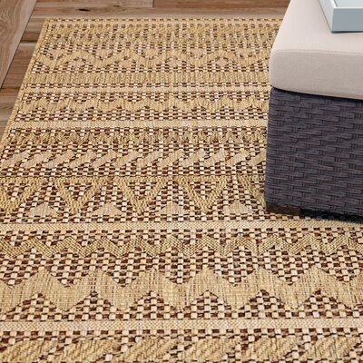 Lukas Light Brown Outdoor Area Rug Rug Size: Rectangle 5 x 8
