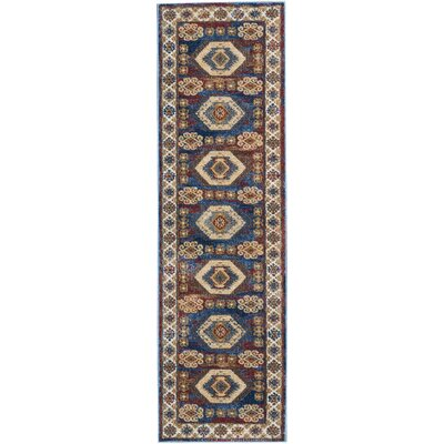 Landen Blue Area Rug Rug Size: Runner 22 x 76