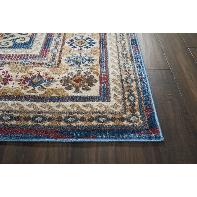 Landen Blue Area Rug Rug Size: Rectangle 53 x 73