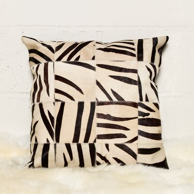 Graham Patchwork Cowhide Throw Pillow