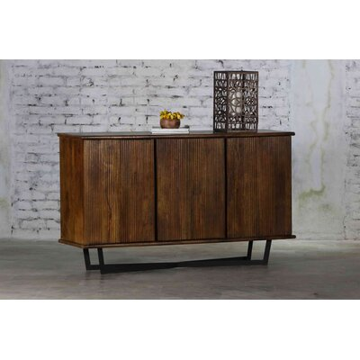 Eudora Wooden Stripped Sideboard