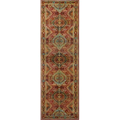 Janelle Rust Area Rug Rug Size: Runner 27 x 10