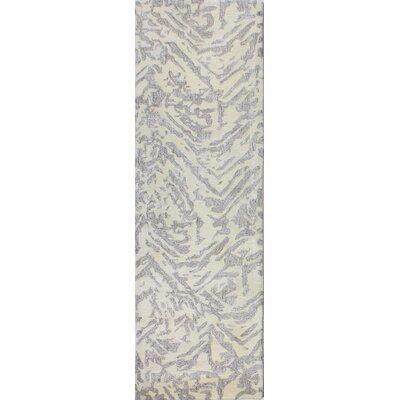 Jared Hand-Tufted White Area Rug Rug Size: Runner 26 x 8