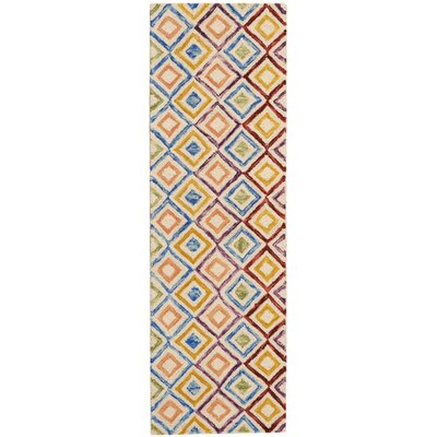 Zosia Hand Tufted Wool Ivory Indoor Area Rug Rug Size: Runner 23 x 76