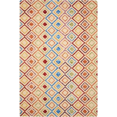 Zosia Hand Tufted Wool Ivory Indoor Area Rug Rug Size: Rectangle 5 x 76