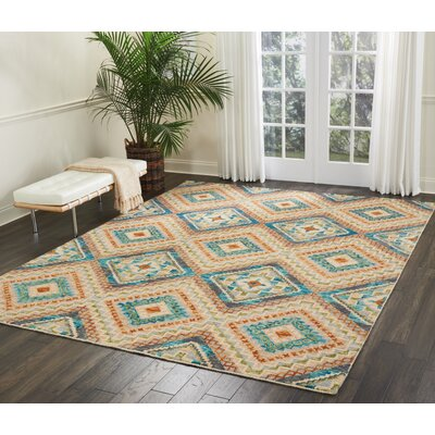 Zosia Geometric Hand Tufted Wool Ivory Area Rug Rug Size: Rectangle 8 x 106