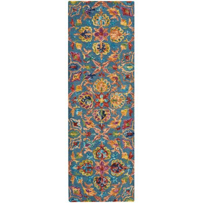 Zosia Hand Tufted Wool Teal Area Rug Rug Size: Runner 23 x 76