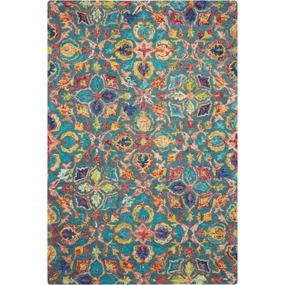 Zosia Hand Tufted Wool Teal Area Rug Rug Size: Rectangle 5 x 76