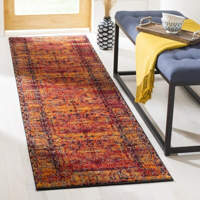 Valenzuela Orange Area Rug Rug Size: Runner 22 x 8