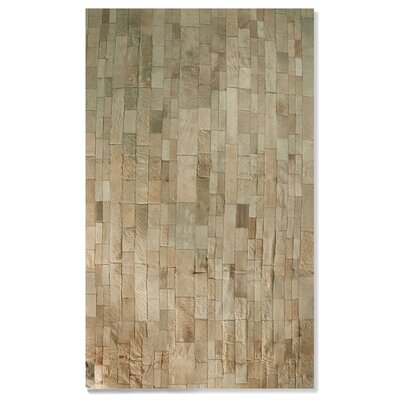 Sarthak Hand-Woven Cowhide Natural Area Rug