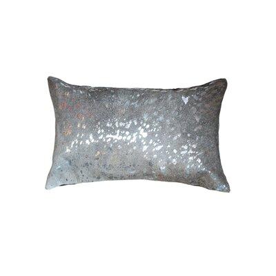 Graham Cowhide Lumbar Pillow Color: Silver/Gray