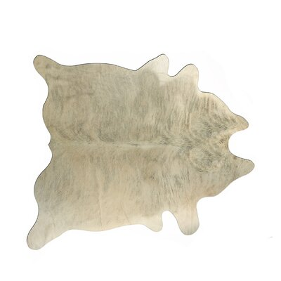 Hanson Hand-Woven Cowhide Light Brindle Area Rug