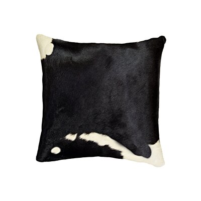 Graham Classic Leather Throw Pillow Color: Black/White