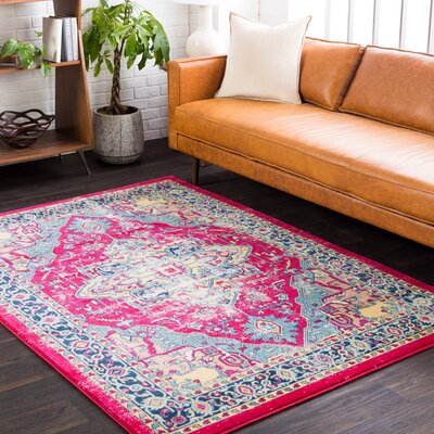 Cassie Garnet/Red Area Rug Rug Size: Rectangle 53 x 76