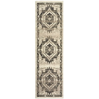 Olatayo Gray/Taupe Area Rug Rug Size: Runner 21 x 75