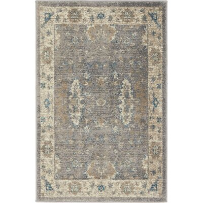 Jaiden Gray Area Rug Rug Size: Rectangle 33 x 53