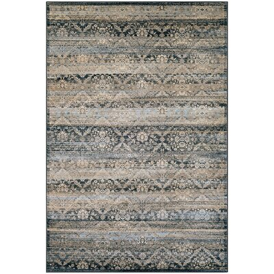 Saramarie Black/Brown Area Rug Rug Size: Rectangle 53 x 76
