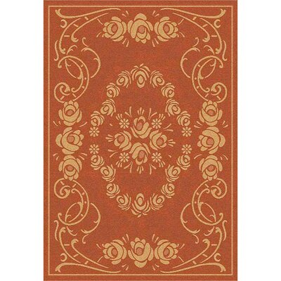 Elisabeth Terra/Natural Outdoor Rug Rug Size: Rectangle 53 x 77