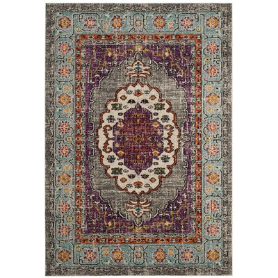 Halsey Violet/Light Blue Area Rug Rug Size: Runner 22 x 12
