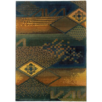 Sarabi Blue/Green Area Rug Rug Size: Rectangle 53 x 76